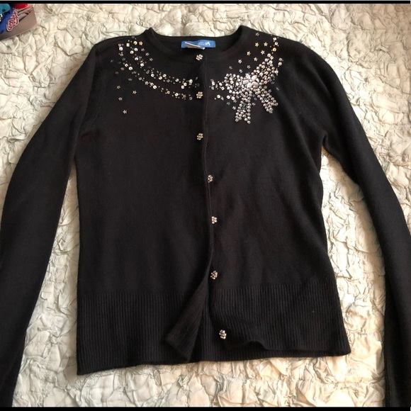 dELiA*s Sweaters - Delia's Embellished black sweater cardigan